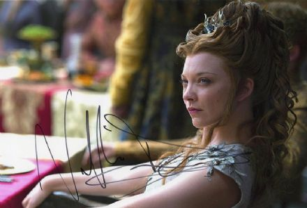 Natalie Dormer, Game of Thrones, signed 12x8 inch photo.